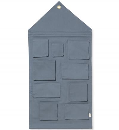 Ferm Living Wandaufbewahrung Haus, Blau
