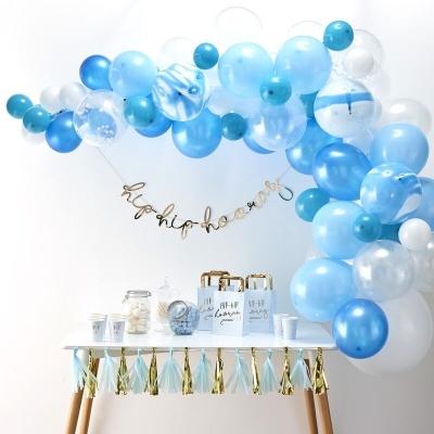 Kindergeburtstag Dekoration, Blue Pastell