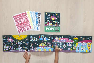 Poppik Stickerposter Panorama (1 Poster + 750 Stickers), Weltraum