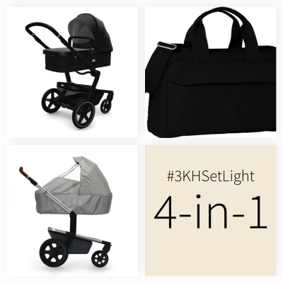 JOOLZ Day+ Kinderwagen #3KHSetLight 4in1, Brilliant Black