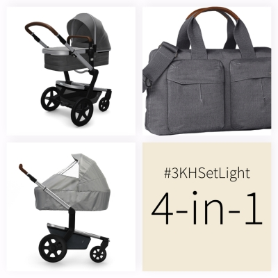 JOOLZ Day+ Kinderwagen #3KHSetLight 4in1, Radiant Grey