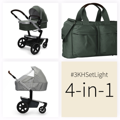 JOOLZ Day+ Kinderwagen #3KHSetLight 4in1, Marvellous Green