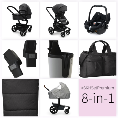 JOOLZ Day+ Kinderwagen #3KHSetPremium 8in1, Awesome Anthracite (mit Maxi Cosi)