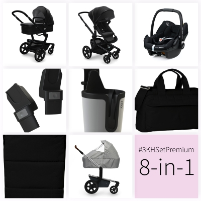 JOOLZ Day+ Kinderwagen #3KHSetPremium 8in1, Brilliant Black (mit Maxi Cosi)