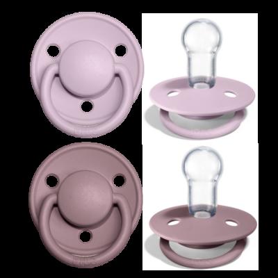 BIBS de Lux Silikon Schnuller (0-36 Monate), Dusky Lilac & Heather