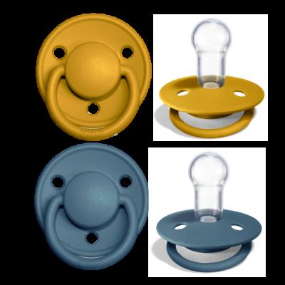 BIBS de Lux Silikon Schnuller (0-36 Monate), Mustard & Petrol