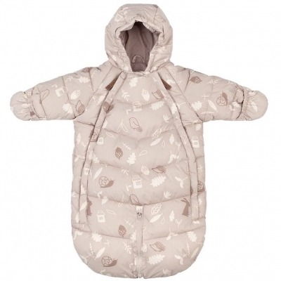 Leokid Transformer Overall Dusty Pink Forest, 3-9 Monaten