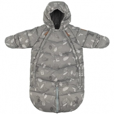 Leokid Transformer Overall Gray Blue Forest, 0-3 Monaten