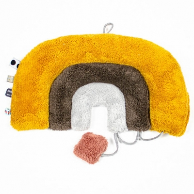 Snoozebaby Kuschelpuzzle Regenbogen, mustard