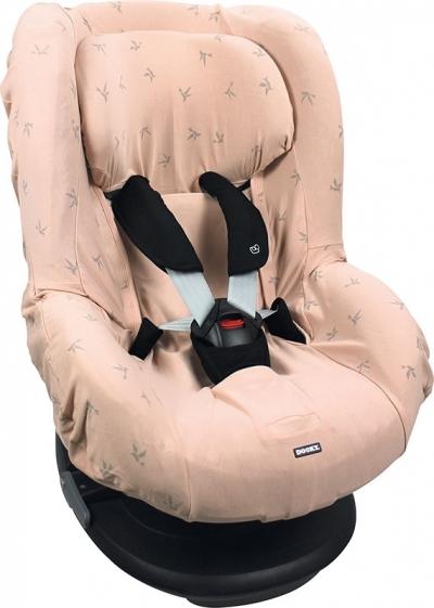 Dooky Kindersitzbezug Gruppe 1 - Pink Origami Schwalben