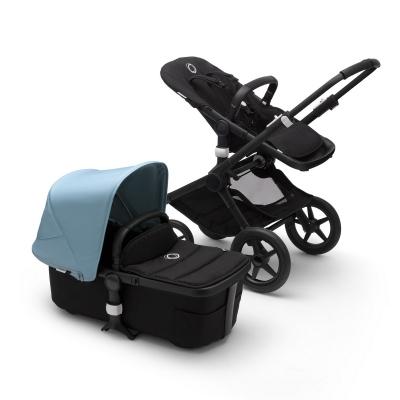 Bugaboo Fox 2 Kinderwagen, Nebelblau (schwarzes Gestell)