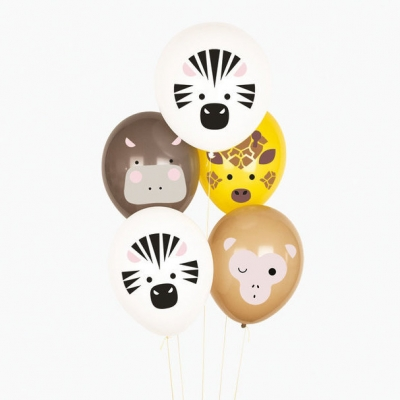 My Little Day Luftballone aus Latex, 5 Stk. - Safari