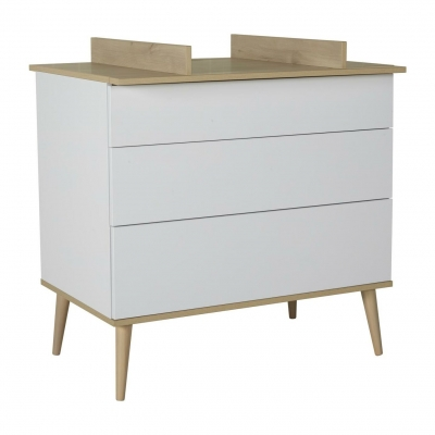 Quax Wickelkommode FLOW, White&Oak