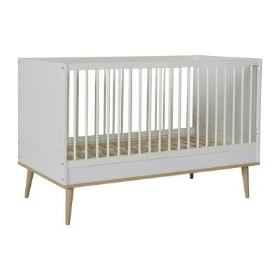 Quax Babybett FLOW 140x70cm, White&Oak
