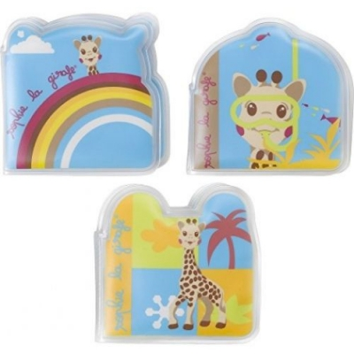 Sophie la girafe 3 kleine Badebücher