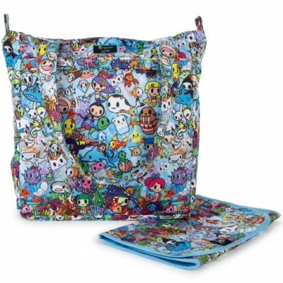 JuJuBe x Tokidoki Be Light Plus Shoppingtasche mit Wickelunterlage, Sea Amo 2.0
