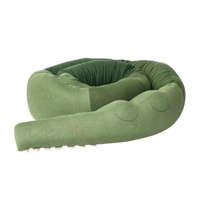 Sebra Gestricktes Kissen, Sleepy Croc XXL - pine green