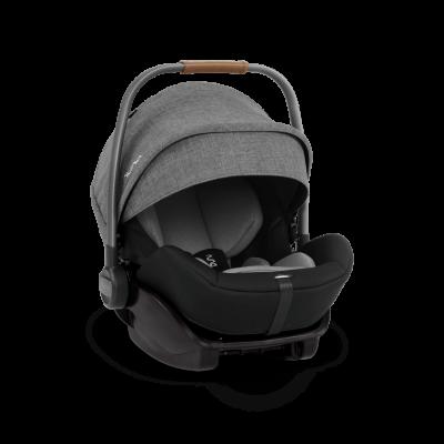 Nuna ARRA i-Size Babyschale mit Liegeposition (inkl Basis), Charcoal