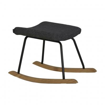 Quax Hocker für Still-Sessel Schaukelstuhl, Schwarz Melange