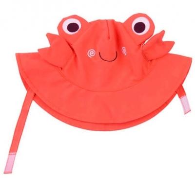 Zoocchini Sonnenhut mit UV-Schutz, Krabbe