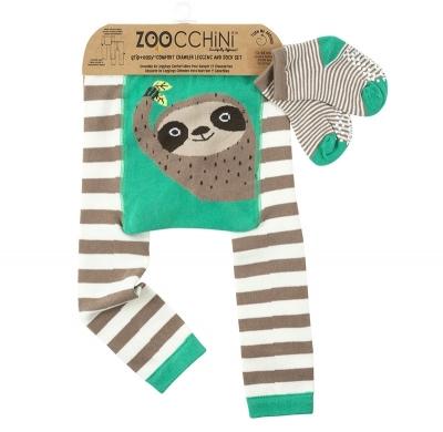 Zoocchini Baby Leggings & Socken Set, Silas das Faultier