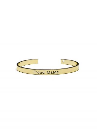 Proud MaMa Bangle Bracelet, Silber
