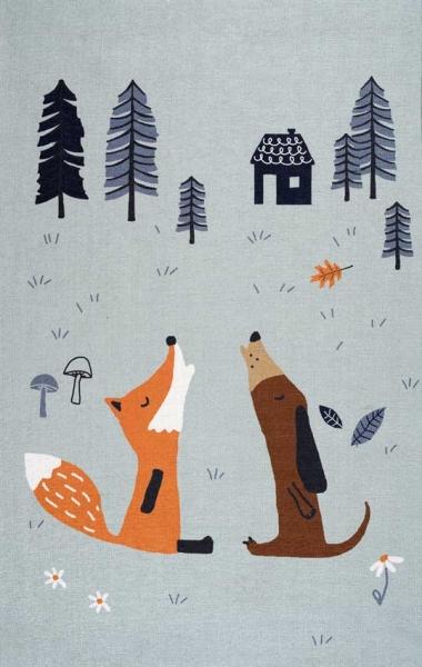 Scandic Living Teppich, Fuchs und Hund