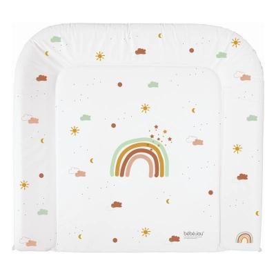 bébé-jou Wickelauflage Fabulous, 74 x 77 cm - Rainbow Sky