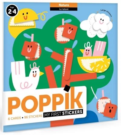 Poppik Meine erste Stickers, Tiere (6 Karten + 360 Stickers)