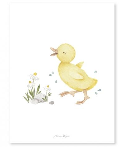 Lilipinso Poster, Retro Ente gelb