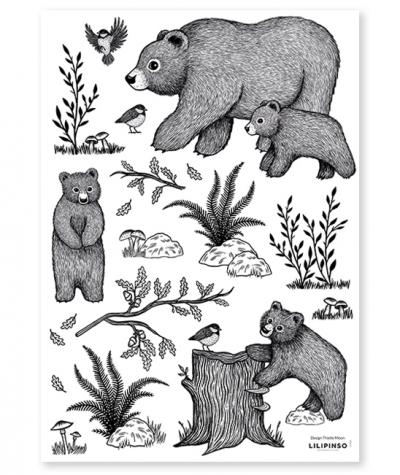 Lilipinso Wandsticker, Die Bären