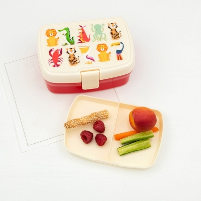 Rex London Lunch Box mit herausnehmbaren Fach, Colourful Creations