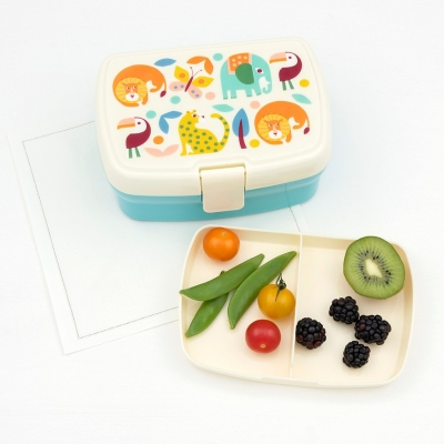 Rex London Lunch Box mit herausnehmbaren Fach, Wild Wonders