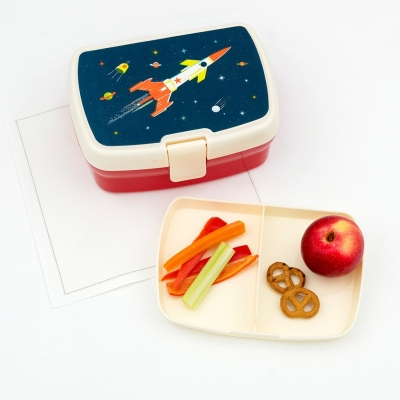 Rex London Lunch Box mit herausnehmbaren Fach, Space Age