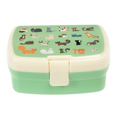 Rex London Lunch Box mit herausnehmbaren Fach, Nine Lives