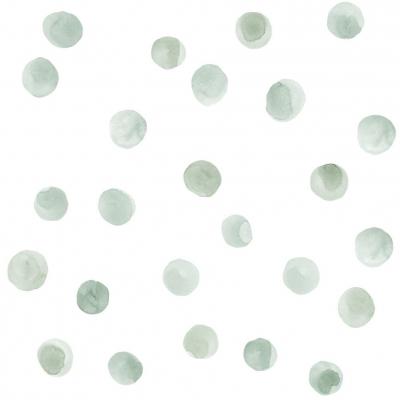 Tresxics textile Wandstickers Wasserfarben Punkte, Grün