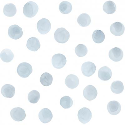 Tresxics textile Wandstickers Wasserfarben Punkte, Blau