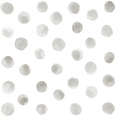 Tresxics textile Wandstickers Wasserfarben Punkte, Grau