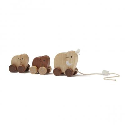 Kids Concept Nachziehspielzeug, Mammutfamilie