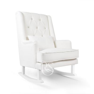 Rocking Seats Stillsessel Royal Rocker, Schneeweiss mit weissen Beinen