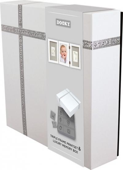 Dooky Hand & Fussabdruckset mit Memory Geschenkbox/ Bilderrahmen