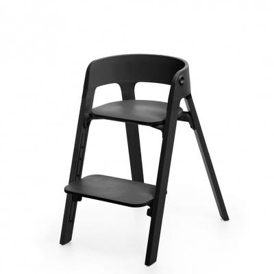 STOKKE Steps Sitz Schwarz, Beine Schwarz