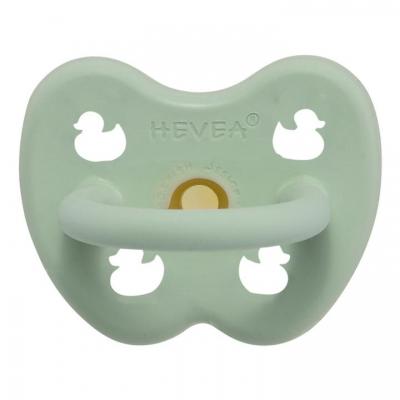 HEVEA Schnuller Naturkautschuk Mellow Mint - Ente, kiefergerecht (0-3 Monate)