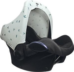 Dooky Hoody mit UV-Schutz, Grau Jade Origami-Schwalben
