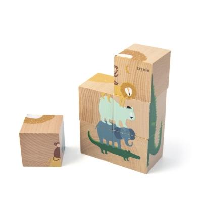 Trixie Baby Holzpuzzle Würfel