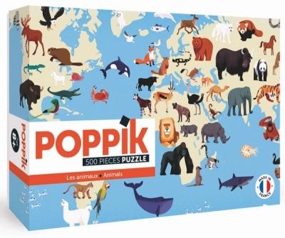 Poppik Puzzle, Tiere der Welt (500 Teile)