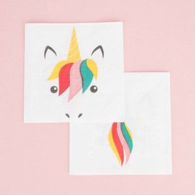 My Little Day Papierservietten, Mini Unicorn - 20 Stk.