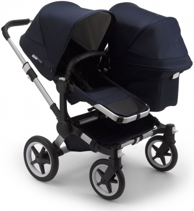Bugaboo Donkey 3 Duo, Classic Navy (Gestell: Silber)
