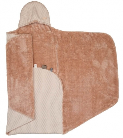 Snoozebaby Wickeldecke Trendy Wrapping, Milky Rust