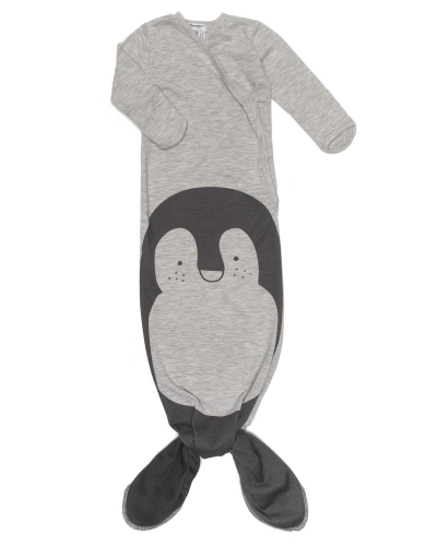 Snoozebaby Schlafbody Cocon, 0-3 Mon., TOG 1.0 - Melange Pinguin